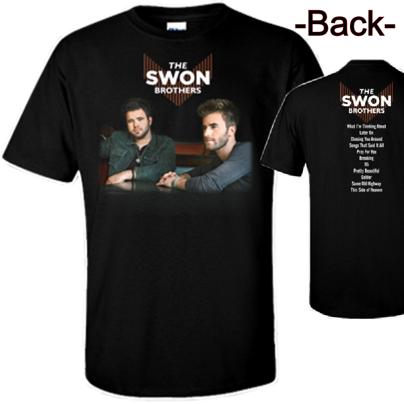 Swon Brothers Black Tee- Album Cover Photo