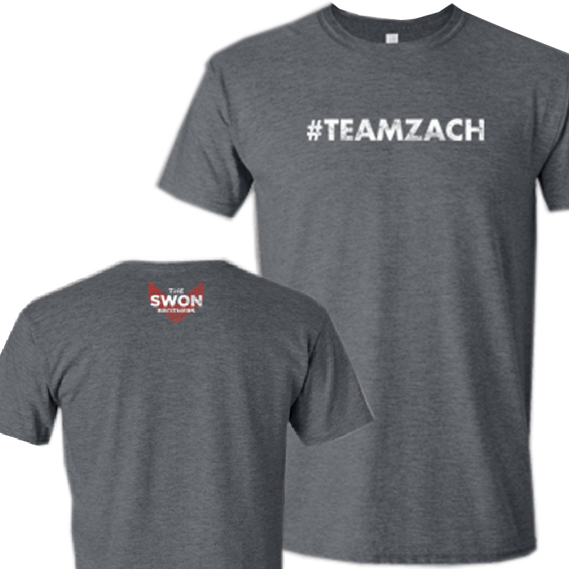 Swon Brothers Heather Charcoal Tee- #TEAMZACH