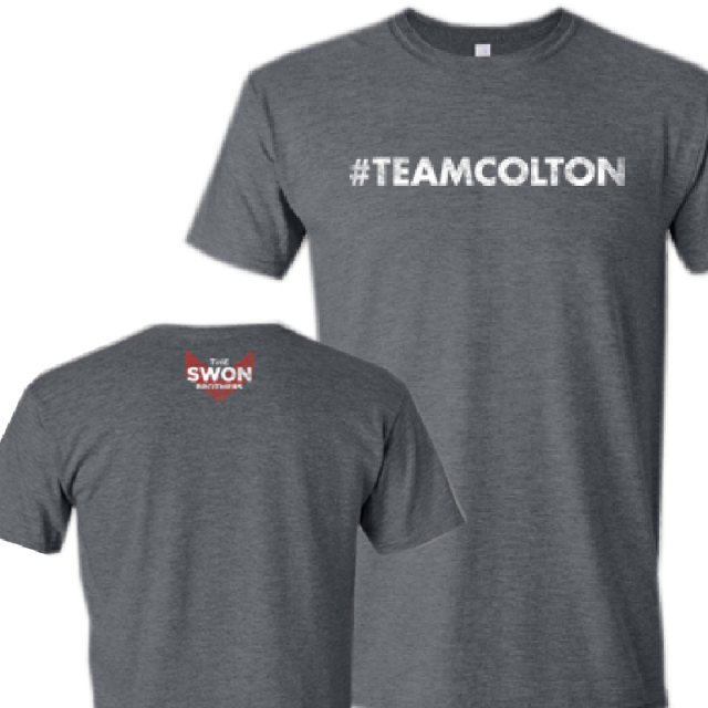 Swon Brothers Heather Charcoal Tee- #TEAMCOLTON